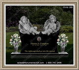 Strings-Of-Flowers-To-Decorate-Tombstone-Around-Base-Of-Stone
