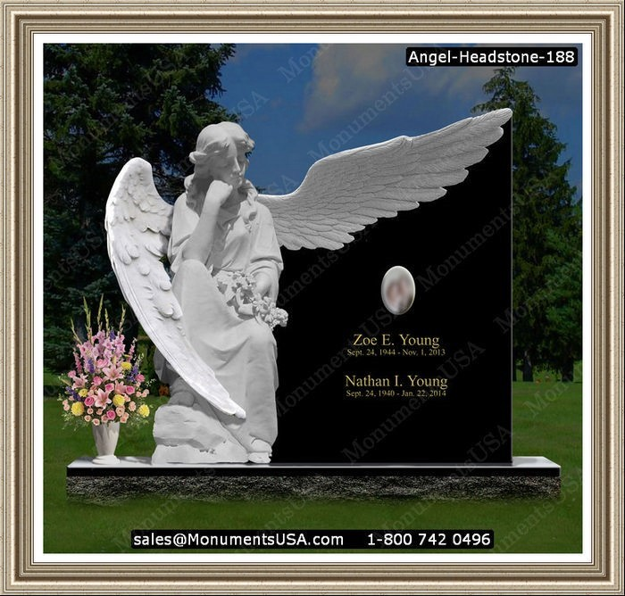 Cheap Tombstones - Ceramic photo on headstone