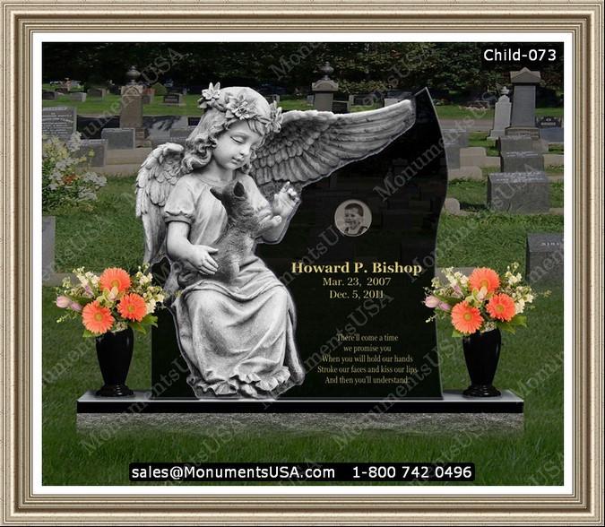flat headstone designs