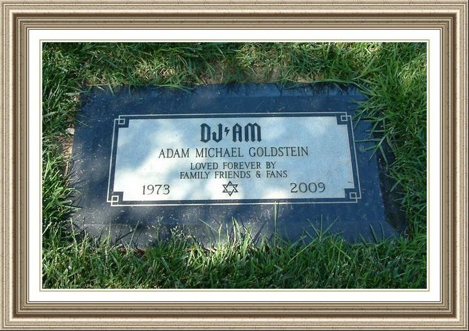 Adam Goldstein Dj Am Headstones Forest Lawn Funeral Hm