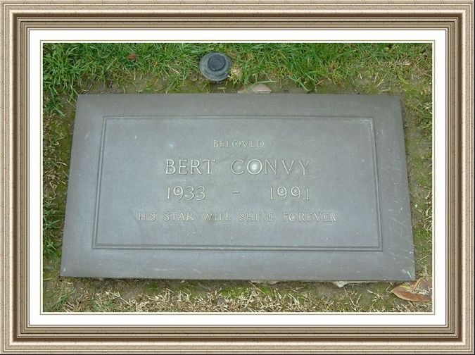 Bert Convy Memorial Marker Twin Lakes Cremation Society Lake Isabella Funeral Hm Scty