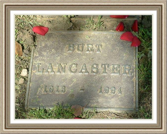 Burt Lancaster Gravestone Memorials Micky Wilkinson