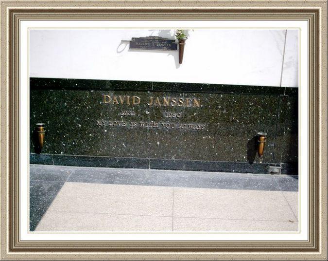 David Janssen Graves Stones Peaceful Rest Funeral Home