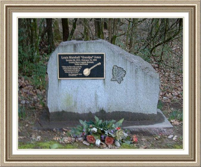 Grandpa Jones Grave Markers Monuments Sacred Hope