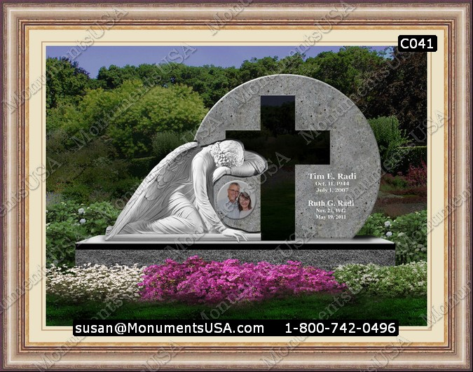 Headstone Floral Arrangements http://www.monumentsusa.com/Cross-Gravestones/An-Easle-Cross-Memorial-Flower-Arrangement.html
