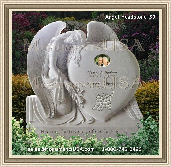 Angel Headstone 53 Angel Monument Granite Headstones