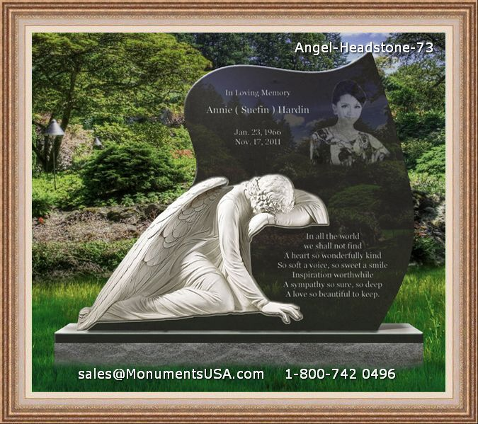 Angel Headstone 73 Angel Granite Tombstone Memorial