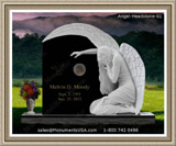 Garden Stones Memorial Weeping Angel Figure