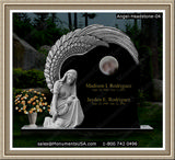 Garden Memorial Stone Weeping Angel Figure