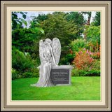 Funeral Monuments Weeping Angel Figure