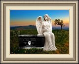 Funeral Monument Weeping Angel Figure