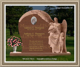 Funeral Headstones Weeping Angel Figure