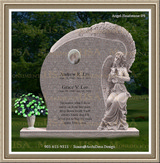 Funeral Headstone Weeping Angel Figure