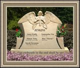 Granite Memorial Monuments Weeping Angel Figure