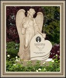 Granite Headstones Weeping Angel Figure