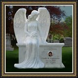 Granite Grave Weeping Angel Figure