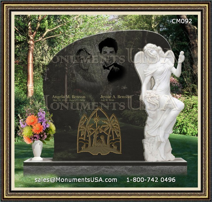 Double Burial Headstones Gravemarkers For Double Father Mother