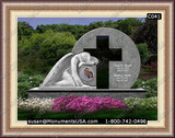 Christian Cross Icon Memorial  Stones