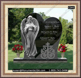 Christian Cross Icon Memorial Granite