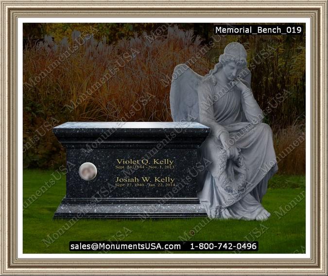 Memorial Bench 019 Memorial Benches Headstone Gravestone Tombstone Monument Memorial