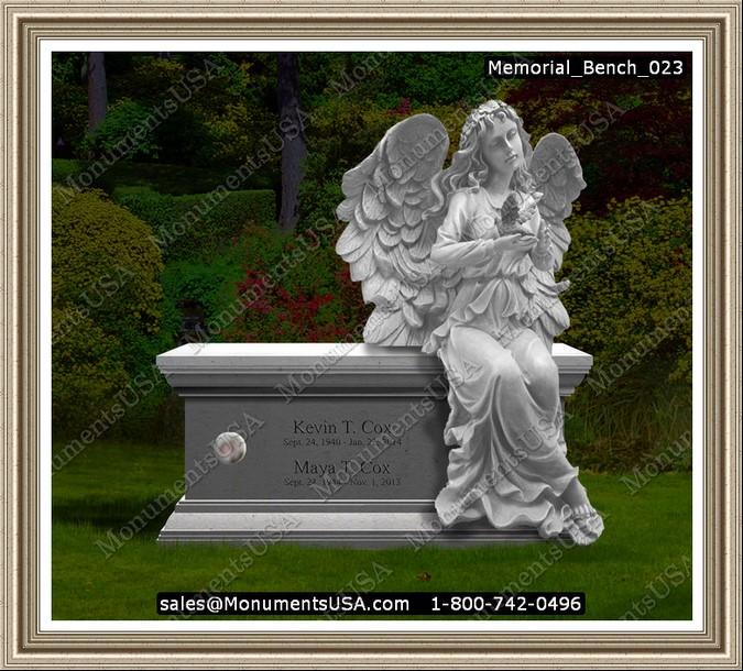 Memorial Bench 023 Memorial Benches Headstone Gravestone Tombstone Monument Memorial