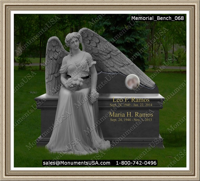 Memorial Photos For Gravestones http://www.monumentsusa.com/Monument_Headstone/Memorial_Bench/Graveyard_H/Memorial_Bench_068.html