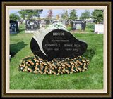 Flower Logo Design Engraved Headstones