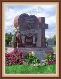 Shape Of A Heart Monument Granite