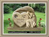 Shape Of A Heart Monument Grave Markers
