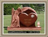 Shape Of A Heart Monument Grave Stones