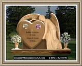 Shape Of A Heart Monument Headstone