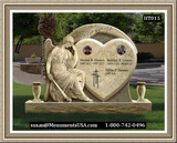 Shape Of A Heart Monument Tombstone