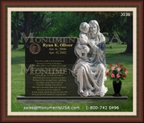 Jesus Themed Gravestone Design