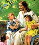 Help Me Jesus Paintings On Stone Bench Seat